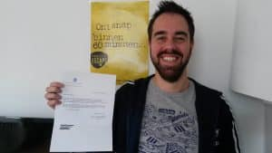 Mark Smolenaars met brief