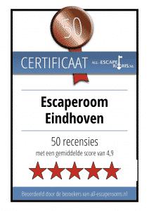 escaperoom certificaat escaperoom eindhoven-klein