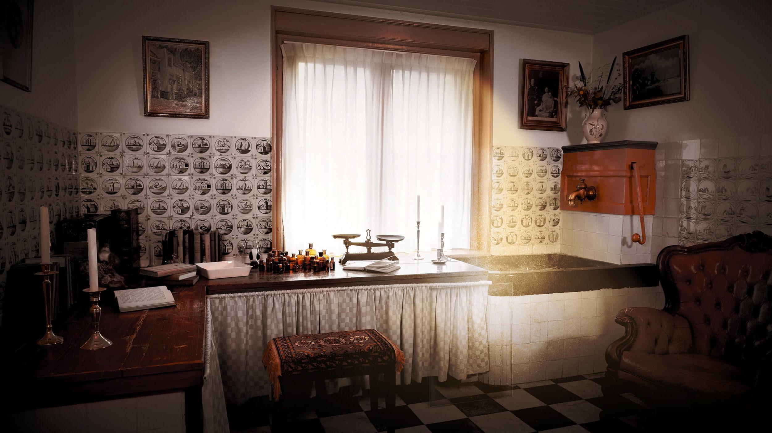 alt-Marias Eeuwige Villa Online Escape Room keuken